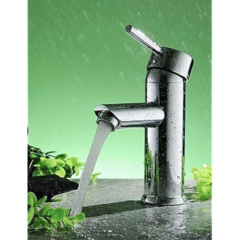 ZHANGYONG*Il lavandino del bagno rubinetto a forma di diamante singola maniglia cromato in ottone solido rubinetto