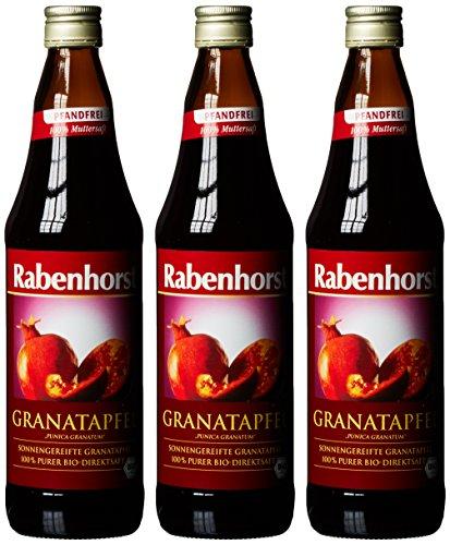 Rabenhorst Bio Granatapfel Muttersaft, 3er Pack (3 x 0.7 l)