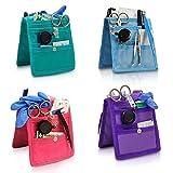 Queraltó Pack 4 organizadores de enfermería Keen's para Bata o Pijama   Colores: 1 Morado, 1 Rosa, 1 Azul y 1 Verde   Lote Ahorro   Elite Bags   Medidas: 14,5 x 12 cm