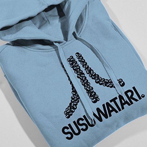 Susuwatari Game Console Atari Logo Women's Hooded Sweatshirt Sky Blue
