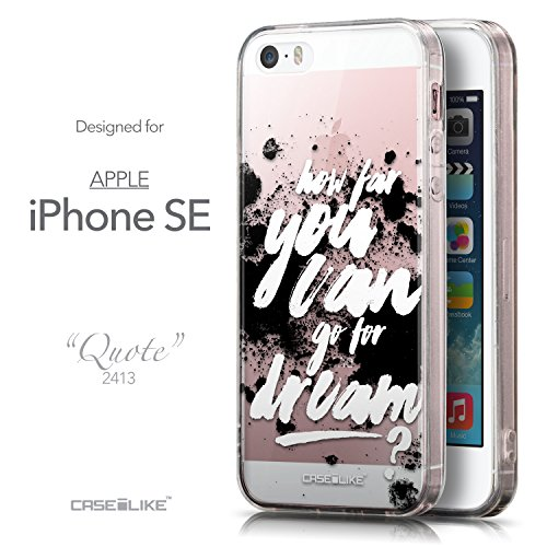 CASEiLIKE Zitat 2402 Ultra Slim Back Hart Plastik Stoßstange Hülle Cover for Apple iPhone SE +Folie Displayschutzfolie +Eingabestift Touchstift (Zufällige Farbe) 2413