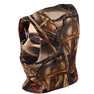 Acid Tactical® Cold Weather Polar Fleece Camouflage Balaclava Full Face mask hood Airsoft - Field Camo