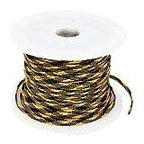sourcingmap® Auto Audio Kabel Polyester Geflechtschlauch Gewebeschlauch Kabelschutz 100M de