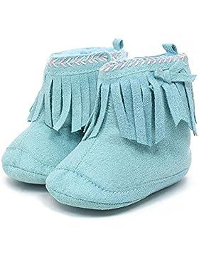 Itaar Baby Stiefel Schneestiefel Mädchen Winter warm Säuglingskleinkind Tassel Stickerei Spitze Design mit weicher...