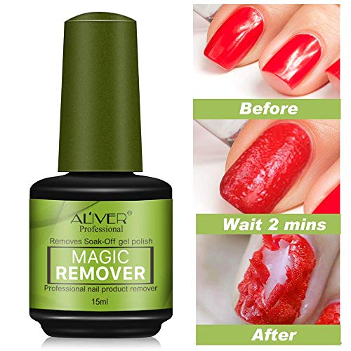 15ml Magic Soak-Off Gel Nail Polish Remover, Professional Remover Nail Polish Delete Primer Acrylic Clean Degreaser For Nail Art Lacquer, Easily & Quickly, Don\'t Hurt Your Nails