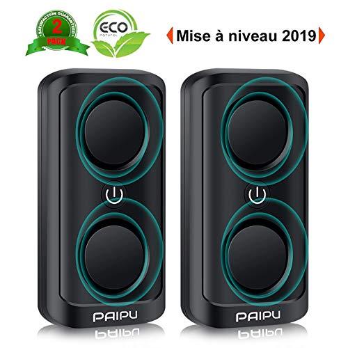 PAIPU 2 Pièces Ultrason Souris Et Rats 8W, RéPulsif Ultrasons Anti Souris Nouveau Version, Grande...