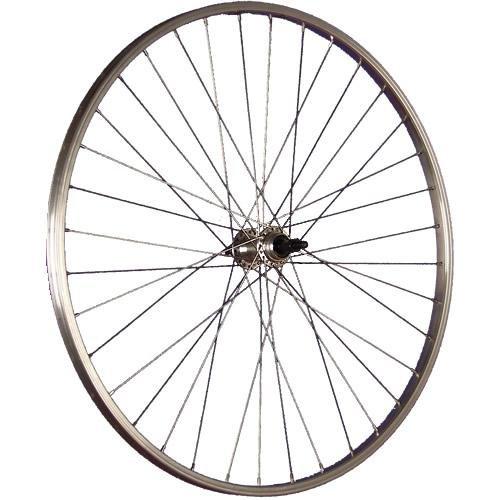 Taylor-Wheels 28 Zoll Hinterrad Büchel Alufelge/Schraubkranzaufnahme 6/8-fach - Silber