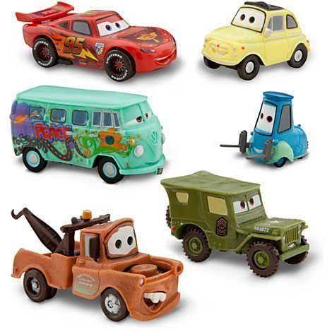 disney-pixar-cars-2-pit-crew-6-pack-of-luigi-guido-sarge-fillmore-lightning-mcqueen-and-mater-pvc-pl