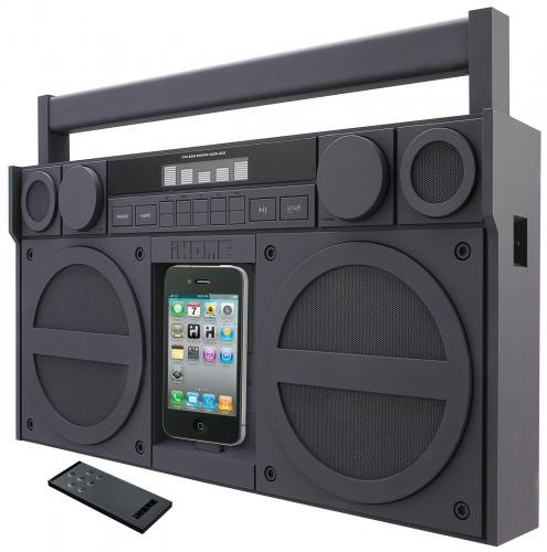 Ihome Portable Stereo (SDI iHome iP4 Portable Stereo-Boombox mit Radio für Apple iPhone/iPod grau)