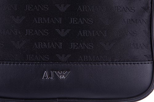 Armani Jeans Zip Stash Homme Cross Body Bag Noir Black