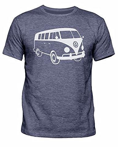 Reverb Clothing T-shirt Volkswagen Campervan pour homme Tailles S à XXL - bleu - L