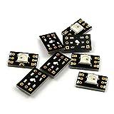 Chips arco iris compatibles con placas de pruebas de NulSom para placas de circuitos Arduino/uC.Pack de 8WS2812B (WS2811, compatible con NeoPixel) con led RVA direccionable