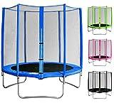 SixBros. SixJump 1,85 M Trampolín de jardín azul - Con red de seguridad - CST185/L1564