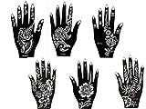 Mehandi Schablonen 6 Stück Set 6 Henna Designs zur einmaligen