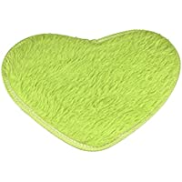 meizu88 Moda amor forma de corazón antideslizante alfombra de baño alfombra alfombra alfombra de cocina size 40cm x 30cm (verde)