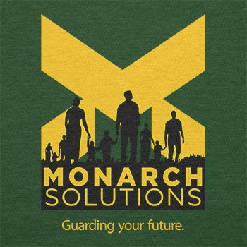 TEXLAB - Monarch Solutions - Herren T-Shirt Flaschengrün