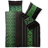 Bettwäsche 200x220 Baumwolle, Trend Nadra Streifen Muster braun schwarz grün aqua-textil 0011820