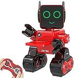 Ricaricabile Robot per bambini, Remote Controlled Giocattolo Intelligent Robot Tocca Interattivo, Parla, Gioca musica, Camminare, Danza, con Built-in Salvadanaio, Kit RC Robot per Ragazze (Rosso)