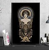AJBB Vintage Poster Und Drucke, Deutschland Retro Leinwand Kunst Malerei Wandbilder, Für Wohnzimmer Wohnkultur 42X60 cm Kein Rahmen