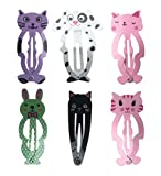 Smile YKK 3 Paires Epingle à Cheveux Bébé Fille 6Pcs Barrettes Clips Pinces Bijoux du Cheveu Chic Animaux