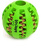Idepet Dog Toy Ball, Nontoxic Bite Resistant Dog Chew Ball Food Treat Feeder Tooth Cleaning Exercise Game Ball