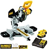 DeWalt DCS365P2 18V Cordless Mitre Saw 184mm With 2 x 5.0Ah Batteries & Charger
