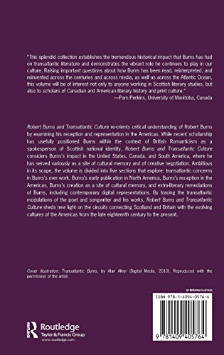 Robert Burns and Transatlantic Culture (Ashgate Series in Nineteenth-Century Transatlantic Studies)