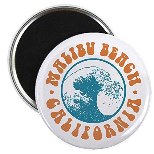 CafePress - Malibu Beach California - 5,7 cm runder Magnet, Kühlschrankmagnet