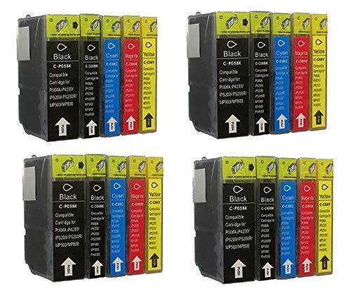 20 Druckerpatronen mit Chip für Canon mit freie Farbauswahl Pixma iP3300 iP3500 IP4200 IP4200IP4300 IP4500 IP5200 IP5200 IP5300 IP6600 IP6700D MP500 MP510 MP520 MP530 MP610 MP800 MP810 MP830 MP970 IX4000 IX5000 MX700 MX850 Pro9000 PGI5 CLI8 (Pixma Canon Mp970)