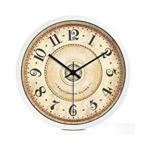 Time Of Wall Retro European Style Wall Clock Living Room American Silent Quartz Watch Creative