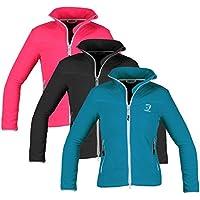 Horka Sunshine - Chaqueta de tipo softshell, con cremallera, forro polar, para invierno, para deportes al aire libre, color negro, tamaño 13-14 años