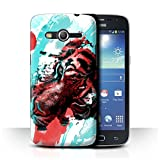 Stuff4 Coque de Coque pour Samsung Galaxy Core 4G/G386W / Peinture de Tigre Design/Fragments Collection