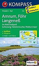 Amrum - Föhr - Langeneß: Wanderkarte mit Kurzführer und Radwegen. GPS-genau. 1:35000 (KOMPASS-Wanderkarten, Band 705)