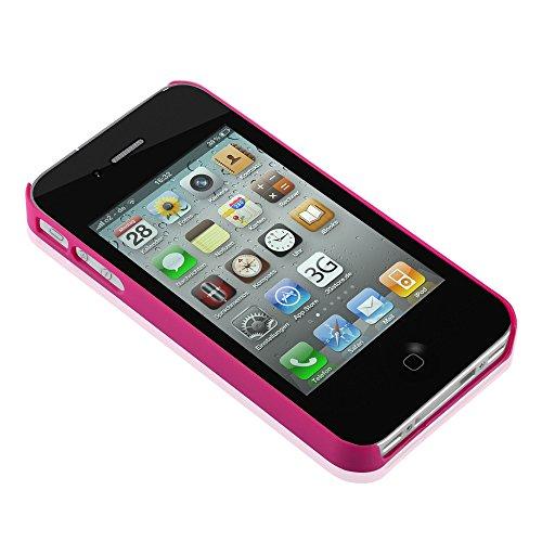 Cadorabo - Design Mandala Hard Cover Slim Case pour Apple iPhone 4 / 4S / 4G - Etui Coque Bumper Henna Paisley en NOIR-TRANSPARENT ROSA-TRANSPARENT