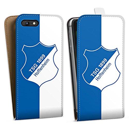 Apple iPhone X Silikon Hülle Case Schutzhülle TSG 1899 Hoffenheim Fanartikel Fussball Downflip Tasche weiß