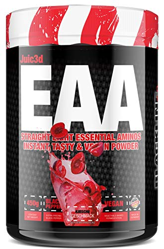 #sinob - Juic3d EAA. Extrem Lecker, Sofort Löslich & Vegan. 8 Essentielle Aminosäuren In Reinform. 1 x 450g (Kirsche)