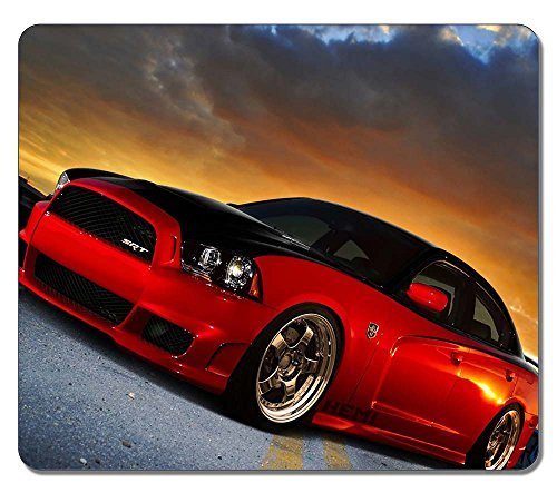 Gaming Mouse Pad, Extra Large Mouse Mat 12.87x11.02x0.15 IN, Customize Dodge Charger Srt Natural Eco Rubber Oblong MousePad Computer Desk Stationery Accessories Mouse Pads For Gift -