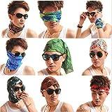 ZZ ZONEX 10 pc Bandana Bikers Motorcycle Riding Neck Face Mask Protection Tube Head Bands ( 10 pc )
