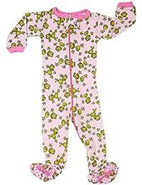 """Elowel ninas """"Rana'' Pijama con pies 100% algodon (6M a 5 Anos)"""