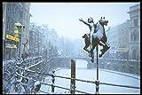 235056 Statue Next To Oude Gracht Canal Utrecht A4 Photo