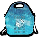 Black Feed Me And Tell Me Im Pretty Shark Lunch Bag For Man And Woman