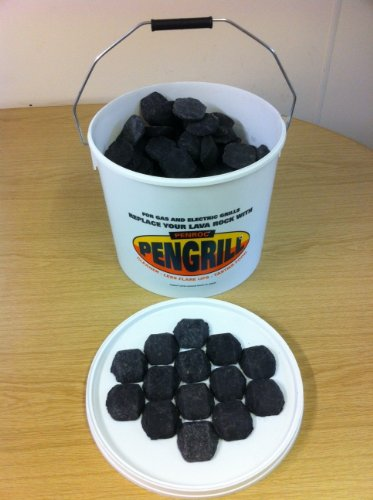 PENGRILL 12.5 Litre tub Lava Rock (Lavasteine) Replacement Ceramic Briquettes