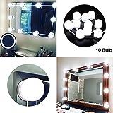 LED Spiegelleuchte, Hollywood-Stil LED Schminkspiegel Lichter Kit mit Dimmbaren 6000K Weiß LED Schminklicht Make-up Spiegel Glühbirnen für Bühne Kosmetikspiegel, LED Schminktisch (10er Spiegellampen)