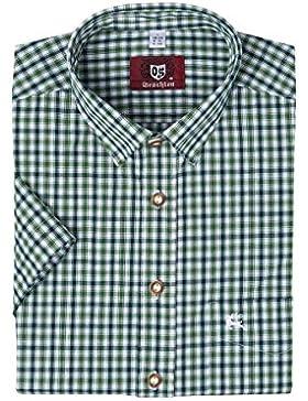 OS-Trachten Herren Trachtenhemd kurzarm grün kariert 112337