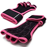 Trainingshandschuhe mit Handgelenkbandage & Handflächenschutz von Emerge – Fingerlose Cross