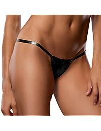SHOBDW Mujeres Sexy Bare Imitation Cuero Underpants Lingerie Lady Bikini Thongs
