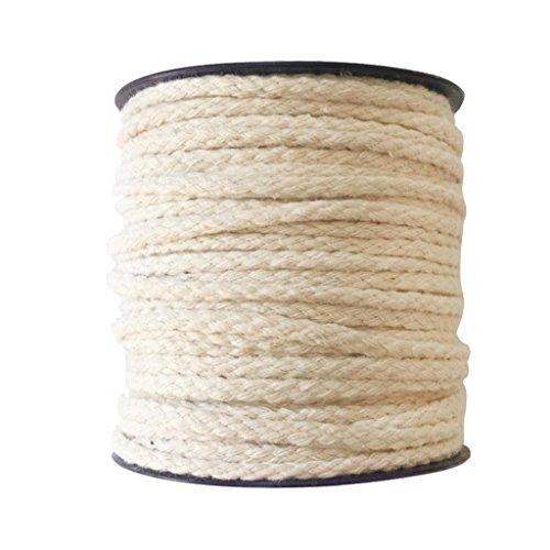 Sharplace Baumwollkordel 3mm Kordel Baumwolle Schnur 4mm Baumwollschnur Zum Basteln - Rohes Weiß, 40 Meter