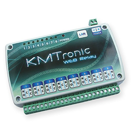 KMtronic LAN Ethernet IP 8 Kanäle Web Relay Board mit Clips für DIN-Schiene (Ethernet-board)
