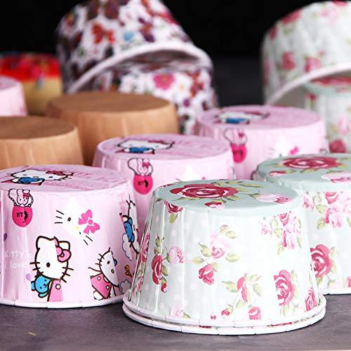 Hohe Temperatur Curling Roll Tasse Kuchen Tasse 100 Pack 6,5 * 5 * 4 cm ()