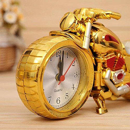 KHSKX Lokalen Gold Farbe zwei Motorrad-Wecker, Mode, Europäische pastorale Retro-Wecker , gold